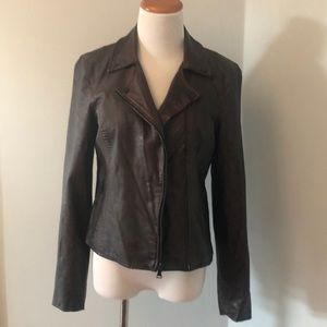 Express Brown Faux Leather Jacket
